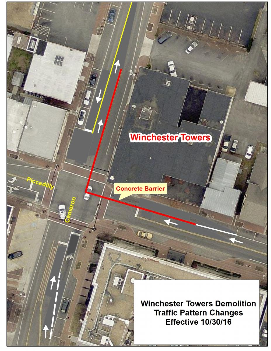 Lane closures during Towers demolition project