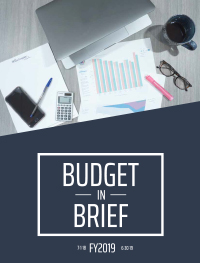FY19 Budget in Brief booklet cover