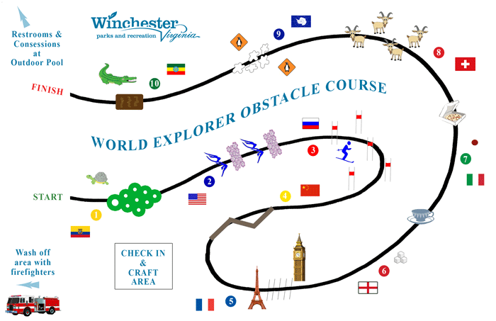 2014 Obstacle Course map