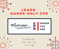 Hands-only CPR tour at Target