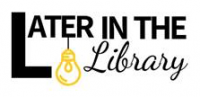 Later in the Library logo
