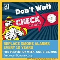 Replace Smoke Alarms Every 10 Years
